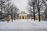 Der verschneite Kaiserpavillon