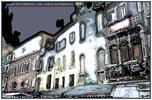 Mystische Häuserfront