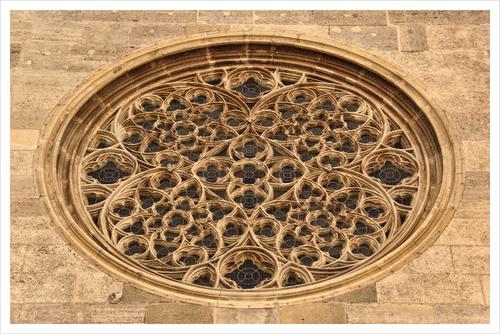 Wiener Stephansdom rundes Fenster