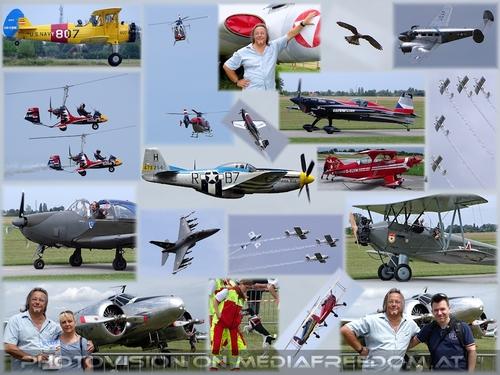 Größte Airshow Österreichs 2018: Charly Swoboda, Gabriele P., Markus P.