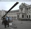 Helikopter auf dem Heldenplatz