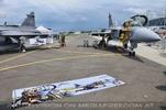 Eurofighter und Fanplakat