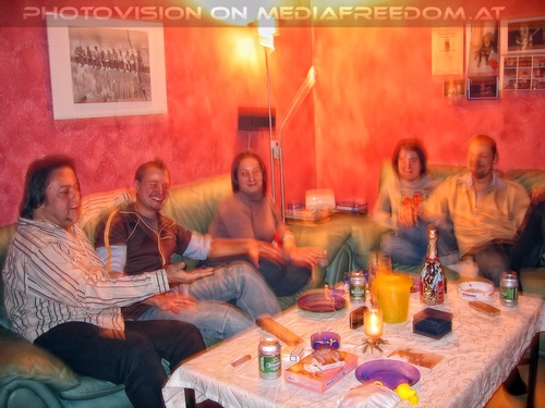 New year party 07: Charly Swoboda,Tommy  ,Dani