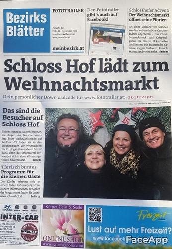 Wir laden zum Weihnachtsmarkt...: Gabriele P.,Charly Swoboda, Brigitte Egretzberger, Gerhard E.
