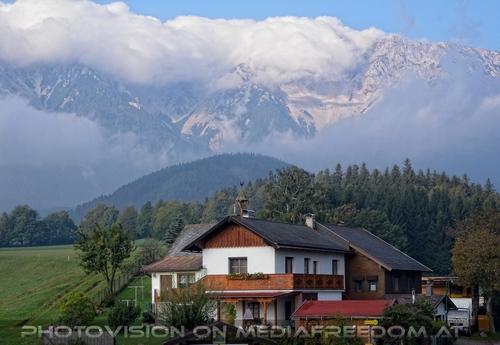 Blick zum Schneeberg