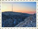 Winterlicher Blick auf den Kahlenberg