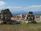 Blick von Archea Korinth auf den Epirus