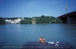 Floß auf neuer Donau