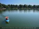 Blick über die alte Donau zum Weststrand