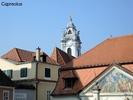 Blick auf den Turm der Stiftskirche Dürnstein