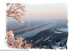Winterlicher Blick auf Wien