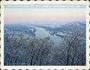 Winterlicher Blick auf Klosterneuburg
