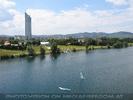 Blick zum Millenium Tower