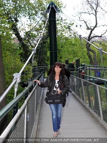 Auf dem Baumkronenpfad: Eva D.