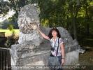 Reh mit Löwendenkmal