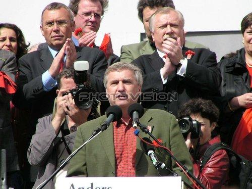 Im Zentrum: Alfred Gusenbauer,Fritz Verzetnitsch,Michael Häupl