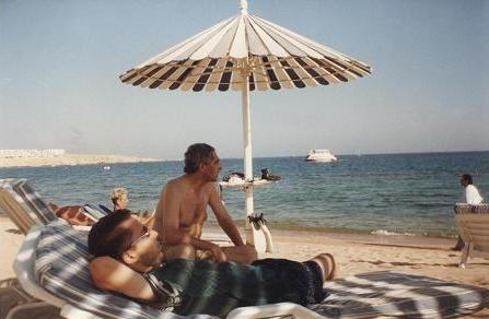 Erholung am Strand: Verwandte