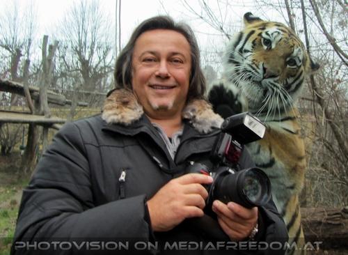 Tigerman Begrüßung: Charly Swoboda,Sibirischer Tiger