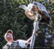 Falkner mit Geier