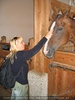 Patin und Pferd