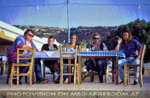 A Greek evening 07: Georg Biron,Christie,Hannes Bartsch,Charly Swoboda