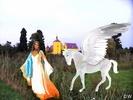 Fantasy am Schloss mit Pegasus
