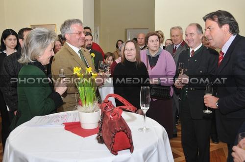 Gratulation zum Erfolg: Elisabeth Gürtler,Max Dobretsberger,Johann Seitinger,Franz Voves