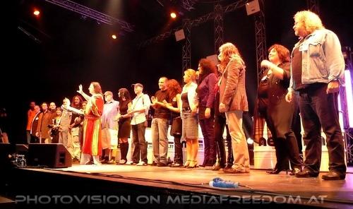 Opening Party - Pix 015: Muff Sopper,Martina Pokorny,Martin Sobotnik,Hannes Bartsch,Iris Weber