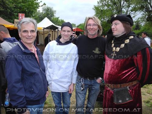 Ritterliches Treffen: Werner Faymann,Thomas Hirmann,Thomas Tschematschar