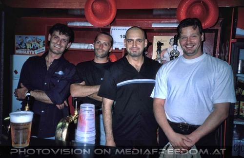 Party men: Christian Wobornik,Bar Master,Harry Brix,Walter Brix