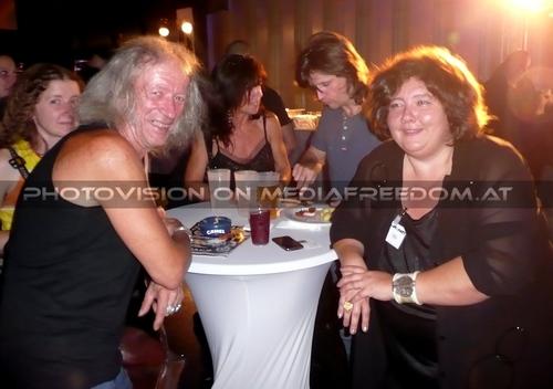 Opening Party - Pix 041: Zappa,Eva D.,Lenny Wolf,Martina Pokorny