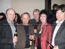 Stimmung mit der neuen Chefin (Karl Öllinger, Peter Pilz, Stephan Rabl, Werner Kogler)