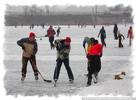 Spaß beim Eishockey