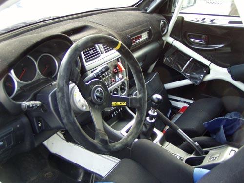 Ralleyauto Cockpit