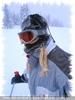 Gabi P. total im Schnee