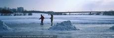 Eislaufen auf der neuen Donau