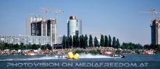 Rennen vor der Donau City
