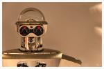 Roboteruhr im Schaufenster