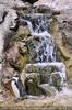 Pinguin beim Wasserfall